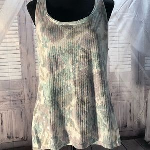 Tank with sequins on front